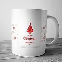 Cốc sứ uống trà cà phê cao cấp in hình giáng sinh an lành - quà tặng Noel