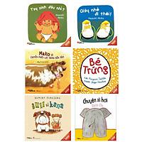 Combo  6 cuốn truyện tranh Ehon Nhật Bản cho bé : Tay xinh đâu nhỉ + Giày nhỏ đi thôi + Mako và chuyến phiêu lưu trong bồn tắm + Bé trứng + Bull và kana + Chuyện xì hơi