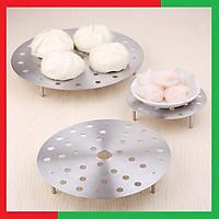 Giá hấp inox hấp thực phẩm bằng Inox không gỉ Cao cấp đa năng tiện dụng cho nhà bếp( Loại lỗ tròn chịu lực tốt),Kích thước 20 x 3,6 cm - Giá Inox hấp thức ăn