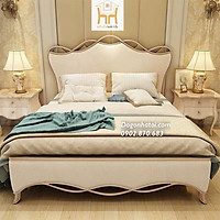 Giường Ngủ Bọc Nệm Đầu Giường Sang Trọng Màu Kem - GN-506