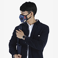 Khẩu trang thời trang cao cấp Soteria Rap ST187 - Khẩu trang vải than hoạt tính [size S,M,L] Van đen - Size L