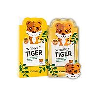 Hộp 10 mặt nạ chống nhăn - giữ ẩm - săn chắc da Rainbow L'affair Wrinkle Tiger Mask 250ml