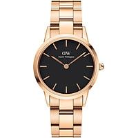 Đồng hồ nữ Daniel Wellington Iconic Link Rose Black 32mm DW00100212