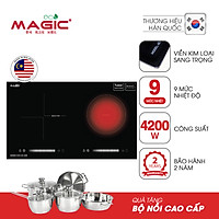 Bếp đôi hồng ngoại và điện từ cao cấp Malaysia Magic Eco AC220 - Hàng chính hãng