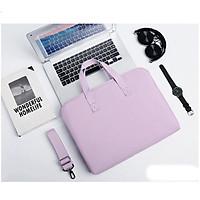 Túi xách chống sốc cho máy tính, macbook, laptop chống nước, siêu nhiều ngăn màu tím - TÍM - 13 INCH
