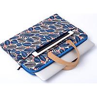 Túi đựng laptop họa tiết lá rùa size 13 inch, 14inch , 15,6inch