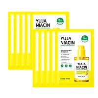 Combo 10 Mặt nạ dưỡng trắng sáng da Some By Mi Yuja Niacin 30 Blemish Care Serum Mask 25g (làm mờ thâm, cải thiện da xỉn màu)