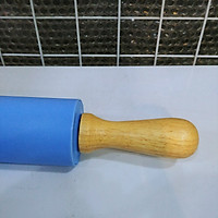 Chày cán bột silicon 38cm, tay cầm bằng gỗ