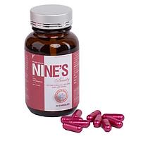 Viên Uống Trắng Da toàn thân Mờ Tàn Nhang Nine's Beauty bổ sung Collagen, Nano Glutathione, Nano Curcumin làm đẹp da hỗ trợ điều trị nám tàn nhang, chống lão hóa giảm nếp nhăn Điều hòa nội tiết tố nữ