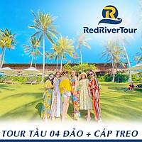 [Phú Quốc] Tour Tàu 4 Đảo - Cáp Treo Hòn Thơm - Xem Rainbow Show, Bao Gồm Bữa Trưa Nhà Hàng Nổi, Xe Đón Tận Nơi Trung Tâm Dương Đông (Lựa Chọn Thêm: Menu Hải Sản, Lặn Bình Khí, Đi Bộ Dưới Biển Seawalker)