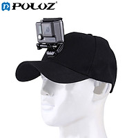 PULUZ for Go Pro Accessories Outdoor Sun Hat Topi Baseball Cap W/ Holder Mount for GoPro HERO5 HERO4 Session HERO 5 4 3 2 1(Black)