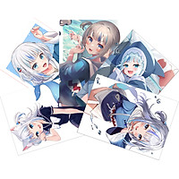 SET 3 Tranh Poster Gawr Gura-Hololive A4 21cmx30cm
