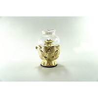 Đèn dầu thờ cúng Phật hoa sen kim sa vàng đốt dầu lưu ly,dầu hỏa - Nhiều cỡ