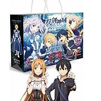 Túi quà anime chibi hình chữ nhật Sword Art Online Đao kiếm thần vực tặng thẻ Vcone