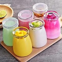 Bộ 6 hũ sữa chua thủy tinh loại cao cấp làm tại nhà an toàn khi sử dụng  có 2 loại 100ml và 200ml