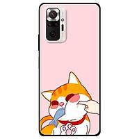 Ốp lưng dành cho Xiaomi Xiaomi Redmi Note 10 - Redmi Note 10 Pro - mẫu Mèo Ăn Cá