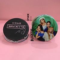 Gương mini Black Pink hai mặt  (Tặng móc khóa gỗ BTS thiết kế độc quyền)