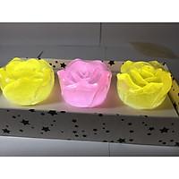 Set 3 xà bông hoa hồng trong suốt