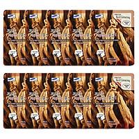 Combo 10 Gói Mặt Nạ Dưỡng Da 3W Clinic Fresh Red Ginseng Mask Sheet (23ml x 10)