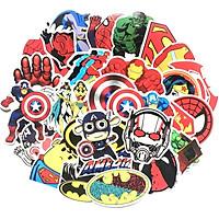 Bộ 50 miếng Sticker hình dán Siêu Anh Hùng Set A