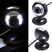 USB Video Web Camera Six Lights Night Vision Camera Computer Webcam With Mic For Pc Laptop Camera