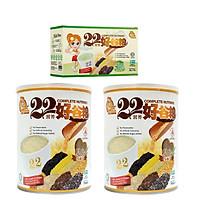 Combo 2 hộp bột ngũ cốc dinh dưỡng 22 Complete Nutrimix Chia Seed (Hạt Chia) 750g + Tặng 1 hộp giấy 22 Complete Nutrimix Wheat Grass (Mầm lúa mì) 250g