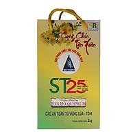 Gạo Thơm ST25 Hộp 2Kg - Gạo An Toàn Từ Vùng Lúa Tôm