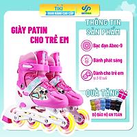 Giày patin cho trẻ - Giày trượt patin trẻ em - Giày patin cho bé- Thể thao ngoài trời, hoạt động ngoài trời - Dành cho trẻ từ 3-15 tuổi -  [ Loại 8 bánh có đèn phát sáng ]