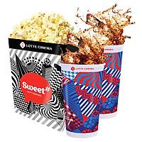 Lotte Cinema Couple Combo - 1 Bắp Rang Lớn Và 2 Nước Ngọt Lớn
