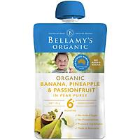Hỗn Hợp Trái Cây Nhiệt Đới: Lê, Chuối, Dứa và Chanh Dây Hữu Cơ Bellamy's Organic
