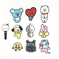 Combo 10 sticker vải ủi áo BTS