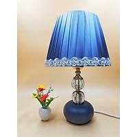 Đèn ngủ để bàn thân 2 bóng tròn VKT T9051 - 25x39(cm) (tặng kèm bóng)