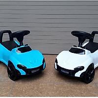 Xe lắc bơi chòi chân ô tô (có nhạc + tựa lưng + thùng chứa đồ)- màu cho bé trai- chọn màu  ngẫu nhiên