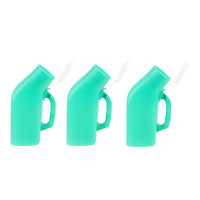 3 Pcs Portable Long Trip Urinal Bottle Male Travel Pee Potty Urine Containers