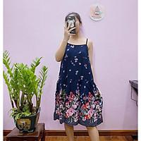 Váy hai dây lanh Thái siêu mát, chất đẹp