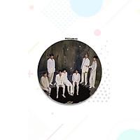 Gương Mini BTS in hình và chữ kí các thành viên gương tròn hai mặt