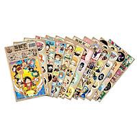 Set 12 ảnh dán One piece đảo hải tặc sticker anime độc đáo