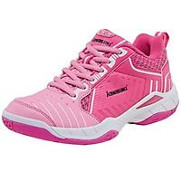 Giày cầu lông Kawasaki K162 Pink mẫu mới, sử dụng bền, thiết kế thoáng khí, êm chân, hàng có sẵn, màu hồng cánh sen dành cho nữ đủ size