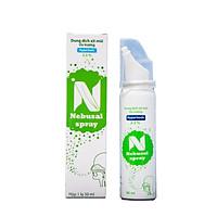 Nước muối ưu trương xịt mũi Nebusal Spray Baby 2,3% hết ngạt mũi, chảy nước mũi, viêm mũi dị ứng, vệ sinh mũi cho trẻ từ 3 tuổi (50ml)