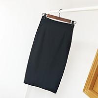 Chân váy công sở dài bigsize CR70V11 xẻ sau màu đen dài 70cm [size từ 48-85kg