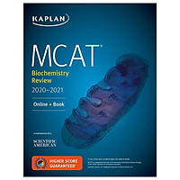 MCAT Biochemistry Review 2020-2021: Online + Book (Kaplan Test Prep)
