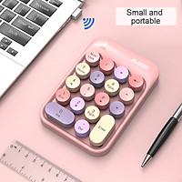 Bàn phím số không dây AJAZZ 2.4G cho máy tính xách tay Macbook Máy tính mini 18 phím số Bàn phím số mỏng cho văn phòng