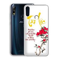 Ốp lưng dẻo cho điện thoại Zenfone Max Pro M2 - 01219 7933 TAILOC02 - in chữ thư pháp Tài Lộc - Hàng Chính Hãng