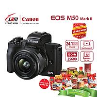 Máy ảnh Canon EOS M50 Mark II EF-M15-45mm F/3.5-6.3 IS STM  - Hàng Chính Hãng