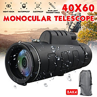 40X60 HD Monocular Night Vision Monocular Telescope Portable Hunting Camping Hiking Telescope with Compass Waterproof