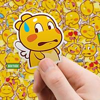 Set 60 Sticker khủng long Vàng Qoobee hình dán có ép lụa