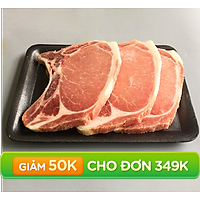 [Chỉ bán HCM] - Cốt lết Heo -  Canada - 500gram