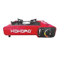 Bếp gas du lịch mini cao cấp Kokoro - Hàng chính hãng, tiết kiệm gas (thân sơn tĩnh điện màu đỏ)