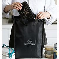 Túi đựng cơm  SIZE TO gữ nhiệt vải Oxford Size (size 26x15x35 cm) - Giao mẫu ngẫu nhiên