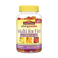 Nature Made Multi for Her Plus Omega-3 Adult Gummies, 90 Count